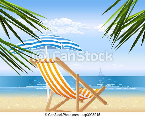 Peaceful seaside view - csp3936915