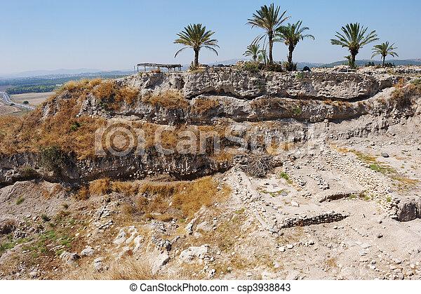 Biblical place of Israel: Megiddo  - csp3938843