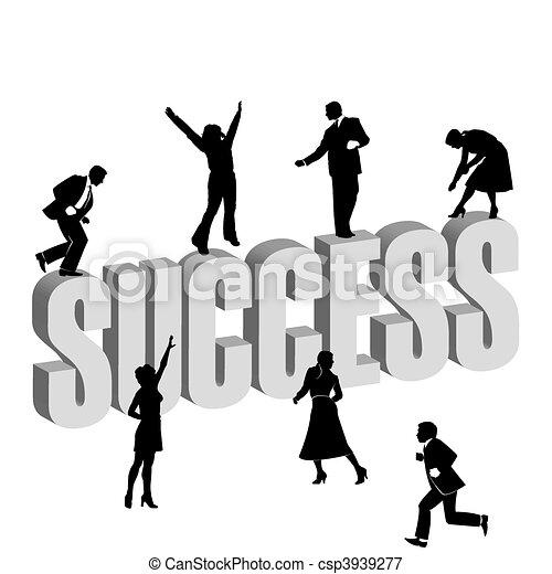business men and women - csp3939277