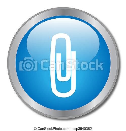 Paper Clip Button - csp3940362