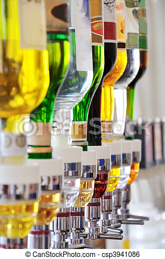 Alcohol bottles - csp3941086