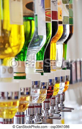Alcohol bottles - csp3941086