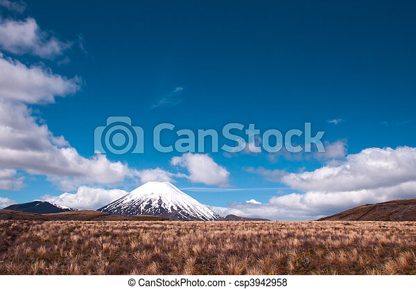 Mount Ngaurohoe (Mt Doom). - csp3942958