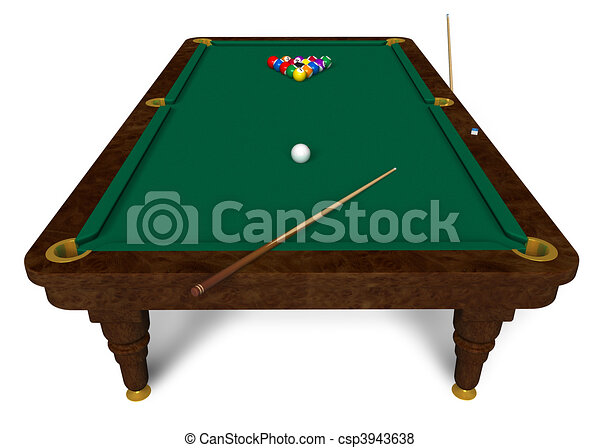 Illustration de billard table csp3943638 recherchez des - Taille billard snooker ...