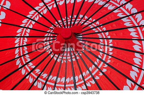 Japanese Red Umbrella - csp3943738