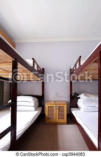 the interior of a 4 bed dorm - csp3944083