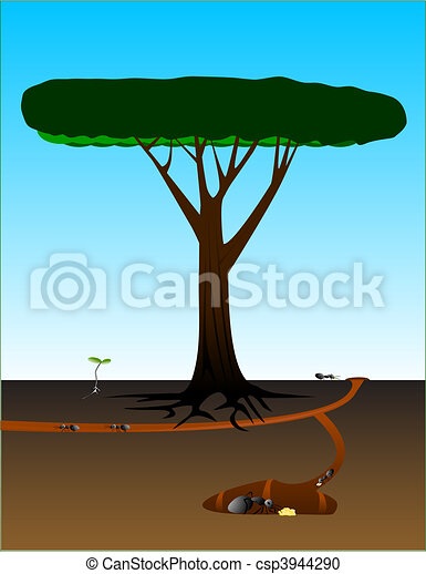 Ants Hard at Work - csp3944290