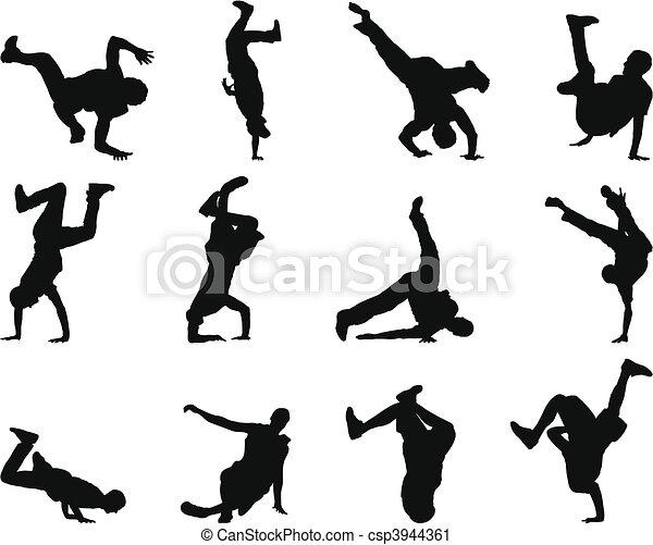 break-dance silhouette set - csp3944361