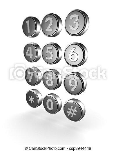 Telecommunication or contact concept - csp3944449