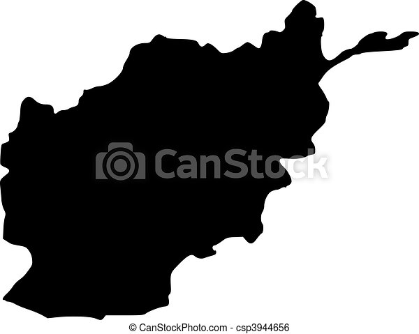 Afghanistan vector map outline - csp3944656