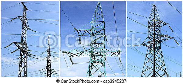 High-tension power line - csp3945287