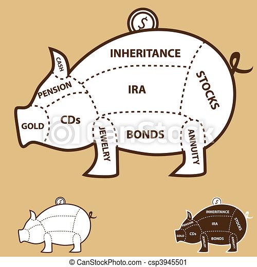 Piggy Bank Chart - csp3945501