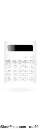 White Calculator - csp3945618