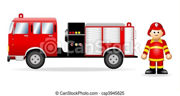 Iconic Figure_Fireman - csp3945625