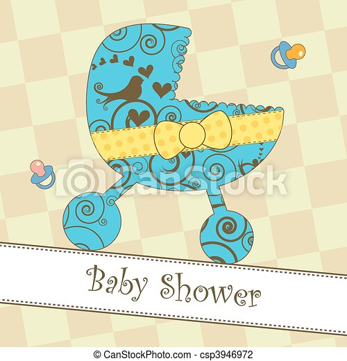 Baby Shower or Arrival Card - csp3946972