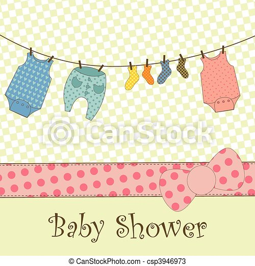 Baby Shower or Arrival Card - csp3946973