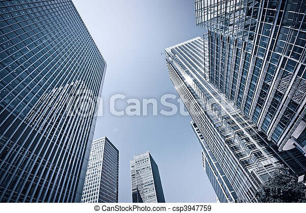 Toned picture of Canary Wharf, London. - csp3947759