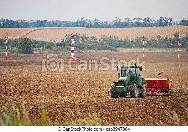 siembra, tractor - csp3947804
