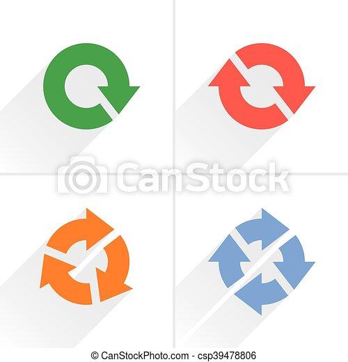Color arrow loop, refresh, reload, rotation sign - csp39478806