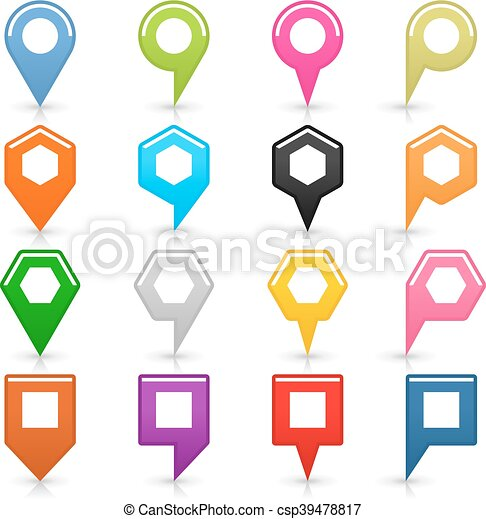 Map pin sign location icon on white - csp39478817