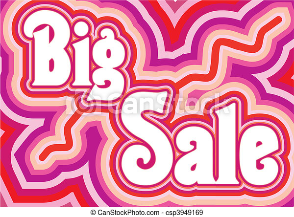 Big Sale inscription, vector illustration - csp3949169