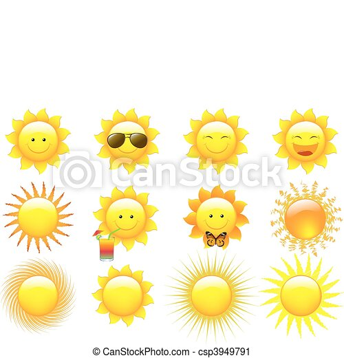 Vector Set Suns - csp3949791