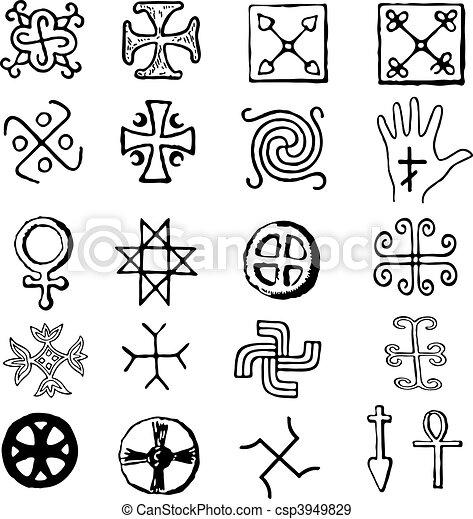various religious symbols - csp3949829