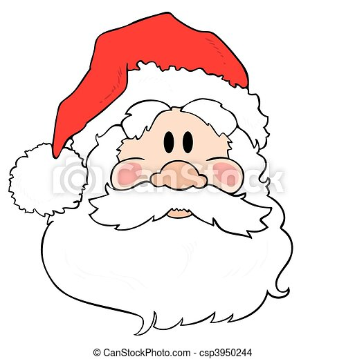 Vector Clip Art of Santa Claus Father Christmas Cartoon - Retro ...