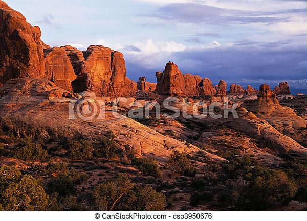 Sunset In The Garden Of Eden - csp3950676