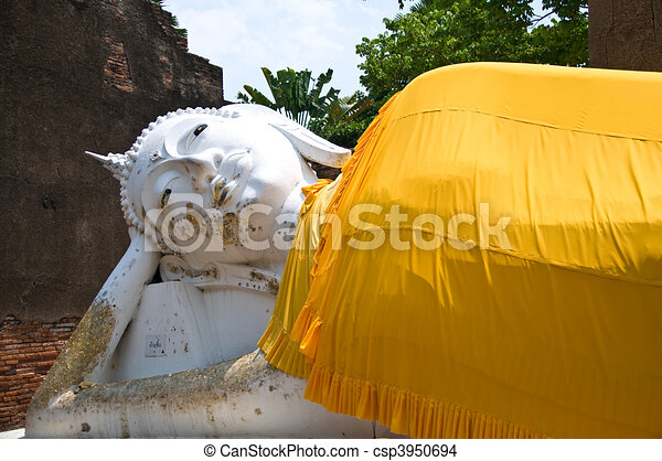 The Reclining buddha - csp3950694