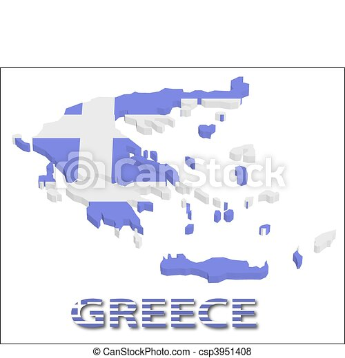 France territory with flag texture. - csp3951408