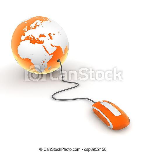 Surf the World - Orange Translucent - csp3952458