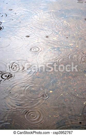 Raindrop Water Ripples - csp3952767