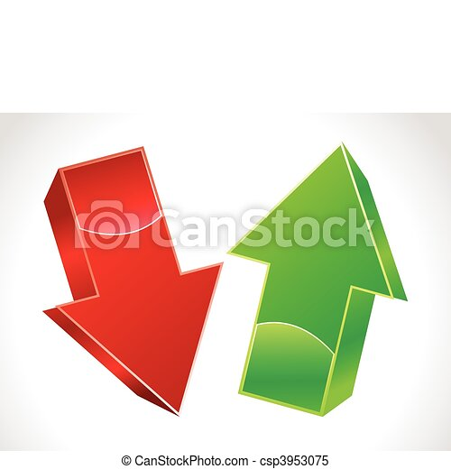 abstract 3d up and down arrows - csp3953075