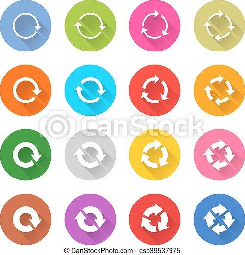 Arrow icon refresh, rotation, reset, repeat sign - csp39537975