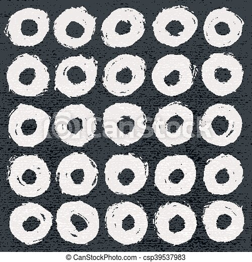 White form color brush stroke on black - csp39537983