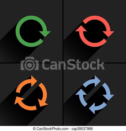 Color arrow loop, refresh, reload, rotation icon - csp39537986