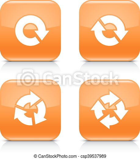 Orange icon refresh reload, rotation, repeat sign - csp39537989