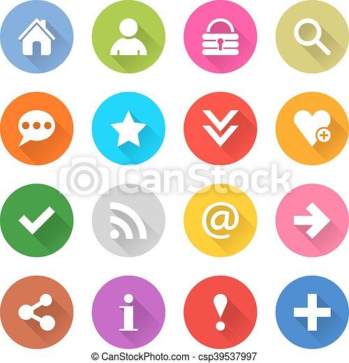 Web icon with blasic sign - csp39537997
