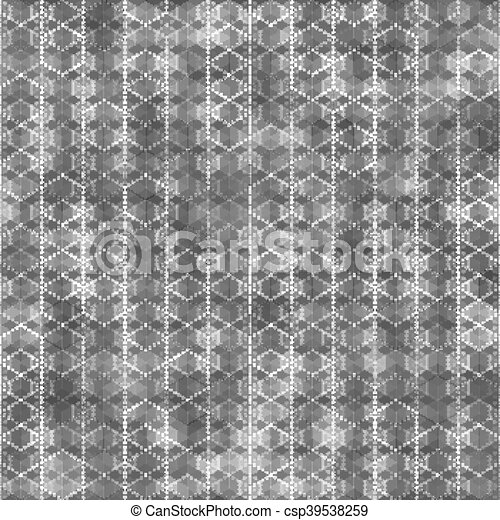 Seamless pattern with hexagon shapes - csp39538259