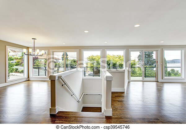 Open Floor Plan View Of Stairs To First Floor Stock Images Page Everypixel
