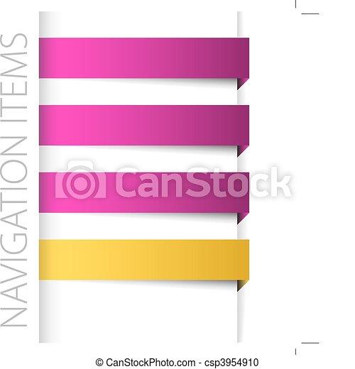 Modern violet navigation items in right bar - csp3954910