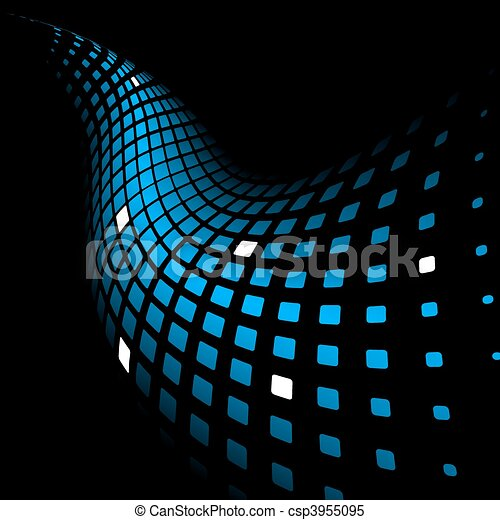 3d abstract dynamic blue background - csp3955095
