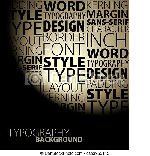 Abstract design and typography background - csp3955115