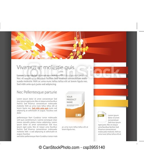 Dynamic website template - csp3955140