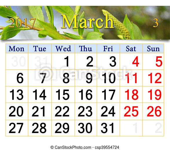Resultado de imagen para calendarios de marzo 2017