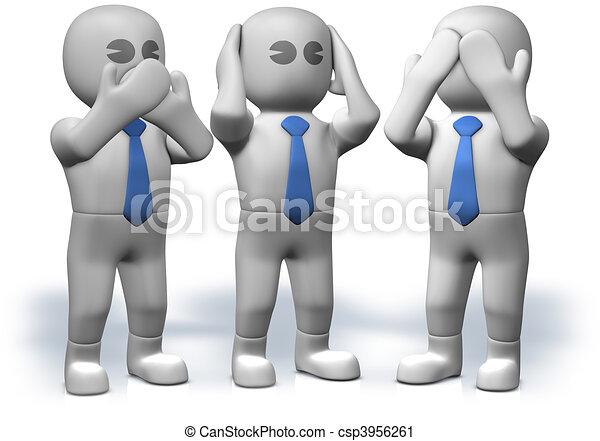 clipart de non parler non entendre non voir trois homme csp3956261 recherchez des. Black Bedroom Furniture Sets. Home Design Ideas