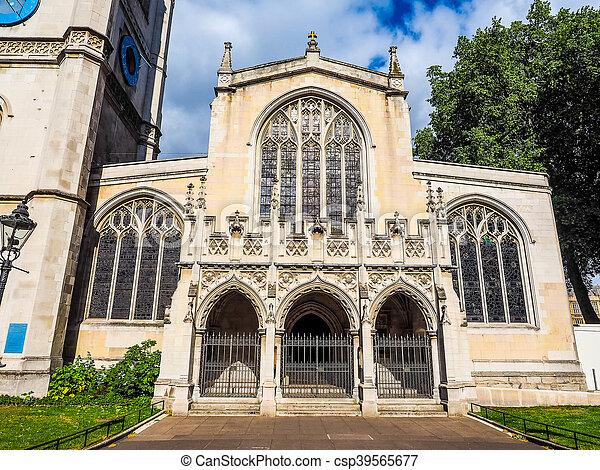 St Margaret Church in London HDR - csp39565677