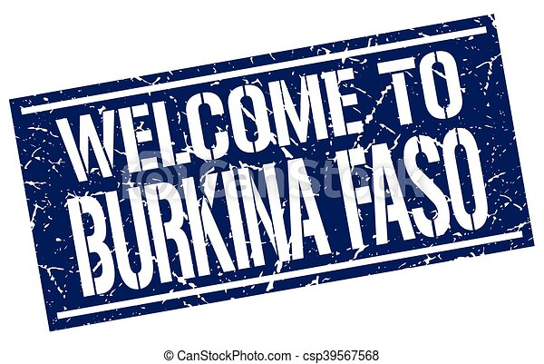 welcome to Burkina Faso stamp - csp39567568