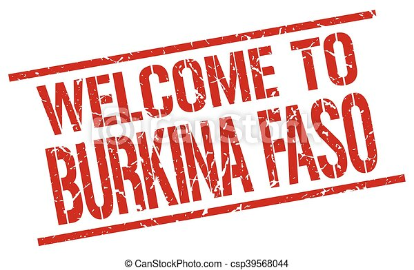 welcome to Burkina Faso stamp - csp39568044